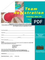 Kickball Registration Form 2011