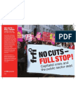No Cuts- Full Stop! Pamphlet by FRFI