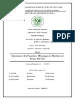 Optimisation Des Paramètres Mécanique Des Machines de Forage Pétrolier-ilovepdf-compressed