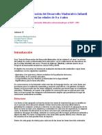 Guía de Observación del Desarrollo Madurativo Infantil en las edades de 0 a 4 años