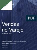 Vendas no Varejo  - BTG Pactual - ffecv