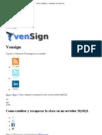 Como cambiar y recuperar la clave en un servidor MySQL _ Vensign