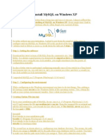 3 Easy Steps to Install MySQL on Windows XP