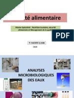 Séance 5 Outil analytique Eau