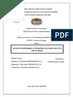 Analyse morphologique et sémantique des toponymes de la ville de Bejaia