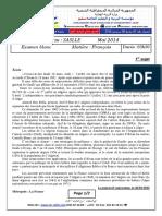 B1_examen blanc et corrige  francais   2014 3ASLLE  1er  sujet
