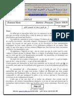 B6_examen et corrige 2 francais 2013 3ASLLE T3