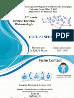 2eme Bio Kout Outils Informatiques Partie 1