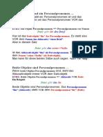 Ein Pronomen und ein Personalpronomen
