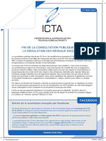 communiqué émis par l'ICTA