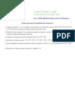 OMP1-Vecteurs-Applications
