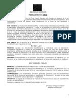 Resolución No 185-20 Mined Plantillas y carga docente 15.12.20