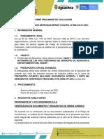 Informe Preliminar de Evaluacion