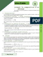 FA8-echelle de composition d'un mélange