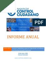 Informe Anual 2010 Control Ciudadano