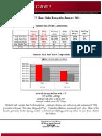 Norwalk , CT Home Sales Report January 2011