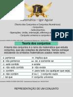 01 - (Teoria Dos Conjuntos e Conjuntos Numéricos), Conjuntos; Subconjuntos; Operações União, Interseção, Diferença e Complementar, Conjunto Universo E-converted