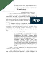 REFLEXÕES RELAÇÃO SOCIEDADE NATUREZA E A PRODUÇÃO DO ESPAÇO BRASIL