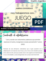 Cuadernillo de Alfabetización 1 (PRIMER CICLO)