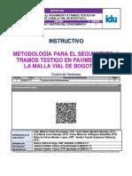 Inic14 Metodologia Para El Seguimiento a Tramos Testigo Pavimentos v 1