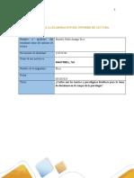 Formato para la elaboración de Informe de lectura  Fase 2  trabajo de etica
