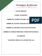PRINCIPALES TEORIAS INSTITUCIONALES