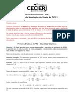 APX1 - Simulação - Gabarito