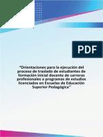 Orientaciones Para La Ejecución Del Proceso de Traslado de Estudiantes de Formación Inicial Docente de Carreras Profesionales a Programas de Estudios Licenciados en EESP (1)