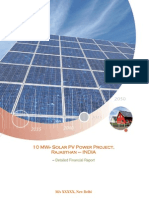 Solar Pv Detailed Project Report