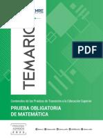 Temario Matematica 26-04-21