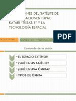 APLICACIONES DEL SATÉLITE DE COMUNICACIONES TÚPAC KATARI sesion 1