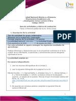 Guía de actividades y rúbrica de evaluación - Unidad 1- Tarea 2 - Inferencia global del texto Entre Líneas