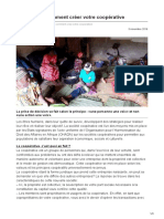 Lavoixdupaysan.net-Cameroun Comment Créer Votre Coopérative