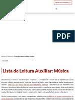 Lista de Leitura Auxiliar_ Música - Contra Os Acadêmicos
