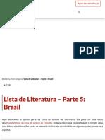 Lista de Literatura – Parte 5_ Brasil - Contra Os Acadêmicos