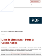 Lista de Literatura - Parte 1_ Grécia Antiga - Contra Os Acadêmicos