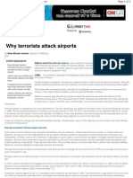 Why Terrorists Attack Airports - 24th Jan 2011