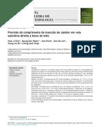 [Artigo] (Procedimentos) Previsão do comprimento de inserção de cateter em veia subclávia direita à beira do leito
