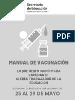 Proceso de vacunación maestros Puebla
