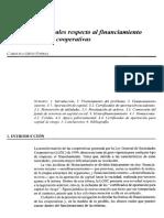 DISPOSICIONES LEGALES RESPECTO AL FINANCIAMIENTO DE LAS SOCIEDADES COOPERATIVAS