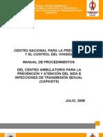 MANUAL DE PROCEDIMIENTOS PARA PREVENCION Y ATENCION DEL SIDA E ITS