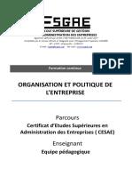Organisation Et Politique de l'Entreprise