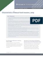 ICI Characteristics of Mutual Funds Investors