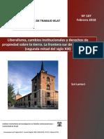 Liberalismo, cambios institucionales y derechos de propiedad sobre la tierra. La frontera sur de Buenos Aires (segunda mitad del siglo XIX)