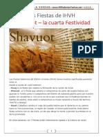 8. Las Fiestas de IHVH - Shavuot - La Cuarta Festividad