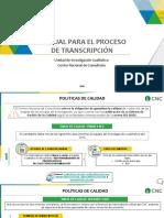 Manual de transcripción UIC