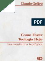 Claude Geffré - Como Fazer Teologia - Paulinas, 1989