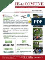 Notizie Dal Comune di Borgomanero del 22-05-2021
