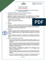 10.- TERMINOS DE REFERENCIA PARA LA CONTRATACION DE UN CONSULTOR - ESTUDIO DE LINEA DE SALIDA