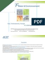plaquette ACEF Water & Environnement